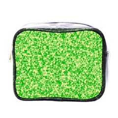Specktre Triangle Green Mini Toiletries Bags by Alisyart