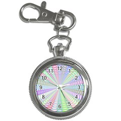 Tunnel With Bright Colors Rainbow Plaid Love Heart Triangle Key Chain Watches by Alisyart