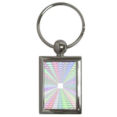 Tunnel With Bright Colors Rainbow Plaid Love Heart Triangle Key Chains (rectangle)  by Alisyart