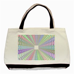 Tunnel With Bright Colors Rainbow Plaid Love Heart Triangle Basic Tote Bag by Alisyart
