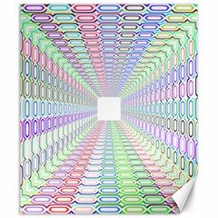 Tunnel With Bright Colors Rainbow Plaid Love Heart Triangle Canvas 20  X 24   by Alisyart
