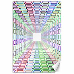 Tunnel With Bright Colors Rainbow Plaid Love Heart Triangle Canvas 20  X 30