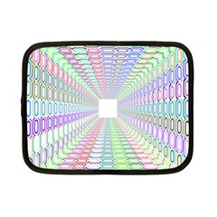 Tunnel With Bright Colors Rainbow Plaid Love Heart Triangle Netbook Case (small)  by Alisyart