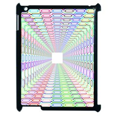 Tunnel With Bright Colors Rainbow Plaid Love Heart Triangle Apple Ipad 2 Case (black) by Alisyart