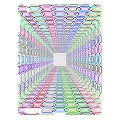 Tunnel With Bright Colors Rainbow Plaid Love Heart Triangle Apple Ipad 3/4 Hardshell Case by Alisyart