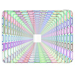 Tunnel With Bright Colors Rainbow Plaid Love Heart Triangle Samsung Galaxy Tab 7  P1000 Flip Case