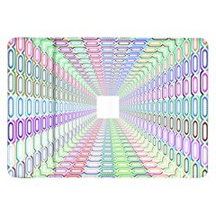Tunnel With Bright Colors Rainbow Plaid Love Heart Triangle Samsung Galaxy Tab 8 9  P7300 Flip Case by Alisyart