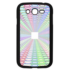 Tunnel With Bright Colors Rainbow Plaid Love Heart Triangle Samsung Galaxy Grand Duos I9082 Case (black)