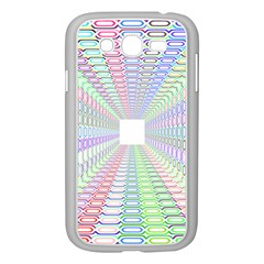 Tunnel With Bright Colors Rainbow Plaid Love Heart Triangle Samsung Galaxy Grand Duos I9082 Case (white) by Alisyart