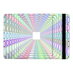 Tunnel With Bright Colors Rainbow Plaid Love Heart Triangle Samsung Galaxy Tab Pro 10 1  Flip Case by Alisyart