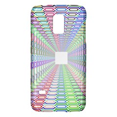 Tunnel With Bright Colors Rainbow Plaid Love Heart Triangle Galaxy S5 Mini by Alisyart