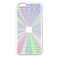 Tunnel With Bright Colors Rainbow Plaid Love Heart Triangle Apple Iphone 6 Plus/6s Plus Enamel White Case