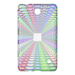 Tunnel With Bright Colors Rainbow Plaid Love Heart Triangle Samsung Galaxy Tab 4 (7 ) Hardshell Case  by Alisyart