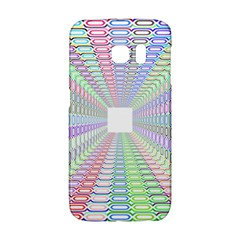 Tunnel With Bright Colors Rainbow Plaid Love Heart Triangle Galaxy S6 Edge by Alisyart
