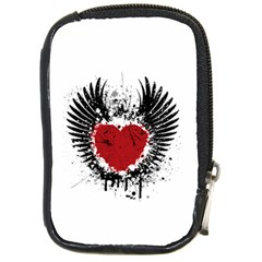Wings Of Heart Illustration Compact Camera Cases by TastefulDesigns
