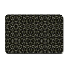 Dark Interlace Tribal  Small Doormat  by dflcprints