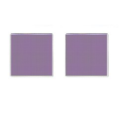 Mardi Gras Purple Plaid Cufflinks (square) by PhotoNOLA