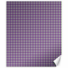 Mardi Gras Purple Plaid Canvas 8  X 10