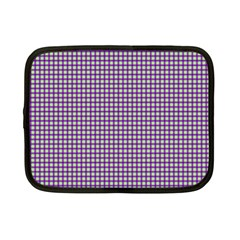 Mardi Gras Purple Plaid Netbook Case (small)  by PhotoNOLA