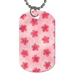 Watercolor Flower Patterns Dog Tag (two Sides) by TastefulDesigns