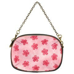 Watercolor Flower Patterns Chain Purses (two Sides)  by TastefulDesigns