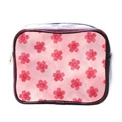 Watercolor Flower Patterns Mini Toiletries Bags by TastefulDesigns