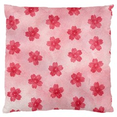 Watercolor Flower Patterns Large Cushion Case (two Sides) by TastefulDesigns