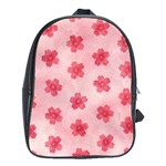 Watercolor Flower Patterns School Bags (XL)  Front