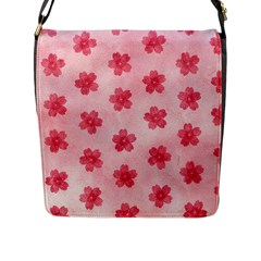 Watercolor Flower Patterns Flap Messenger Bag (l)  by TastefulDesigns