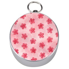 Watercolor Flower Patterns Silver Compasses by TastefulDesigns