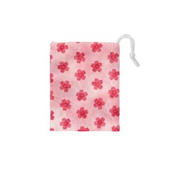 Watercolor Flower Patterns Drawstring Pouches (xs)  by TastefulDesigns