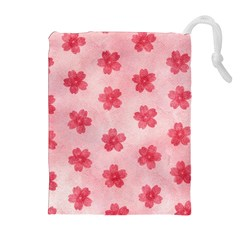 Watercolor Flower Patterns Drawstring Pouches (extra Large) by TastefulDesigns