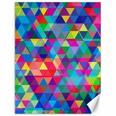 Colorful Abstract Triangle Shapes Background Canvas 18  X 24   by TastefulDesigns