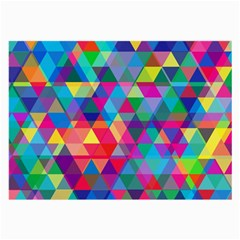 Colorful Abstract Triangle Shapes Background Large Glasses Cloth (2 Side) by TastefulDesigns