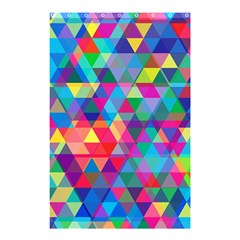 Colorful Abstract Triangle Shapes Background Shower Curtain 48  X 72  (small)  by TastefulDesigns