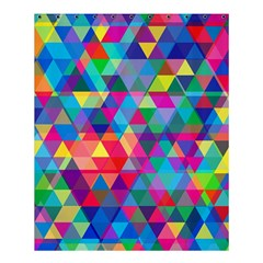 Colorful Abstract Triangle Shapes Background Shower Curtain 60  X 72  (medium)  by TastefulDesigns