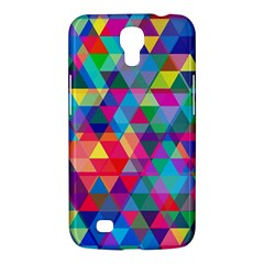 Colorful Abstract Triangle Shapes Background Samsung Galaxy Mega 6 3  I9200 Hardshell Case by TastefulDesigns