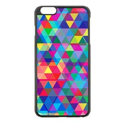 Colorful Abstract Triangle Shapes Background Apple Iphone 6 Plus/6s Plus Black Enamel Case by TastefulDesigns
