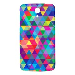 Colorful Abstract Triangle Shapes Background Samsung Galaxy Mega I9200 Hardshell Back Case by TastefulDesigns