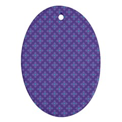 Abstract Purple Pattern Background Ornament (oval) by TastefulDesigns