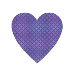 Abstract Purple Pattern Background Heart Magnet by TastefulDesigns