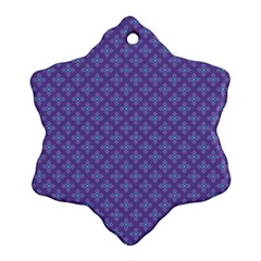 Abstract Purple Pattern Background Snowflake Ornament (two Sides) by TastefulDesigns