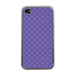 Abstract Purple Pattern Background Apple Iphone 4 Case (clear) by TastefulDesigns