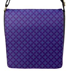 Abstract Purple Pattern Background Flap Messenger Bag (s)