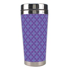 Abstract Purple Pattern Background Stainless Steel Travel Tumblers by TastefulDesigns