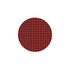 Red Plaid Golf Ball Marker (4 Pack) by PhotoNOLA