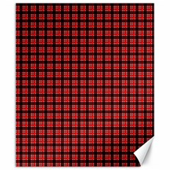 Red Plaid Canvas 20  X 24   by PhotoNOLA