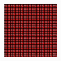Red Plaid Medium Glasses Cloth by PhotoNOLA