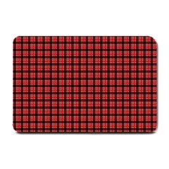 Red Plaid Small Doormat