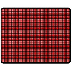 Red Plaid Fleece Blanket (medium)  by PhotoNOLA